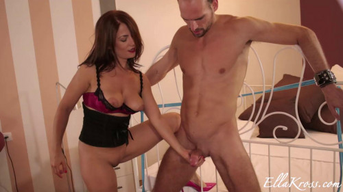 Femdom and Strapon Teasing and Denying until Milking Three Ruined Orgasms