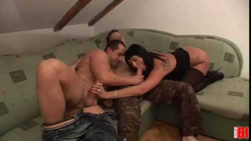 Kristyna and her Boyfriend Invite Some Extra Cock to Play