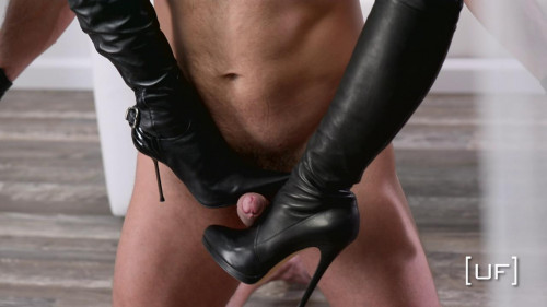 Femdom and Strapon Boots and Gloves.