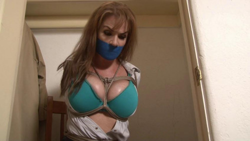 bdsm Bound and Gagged - Busty Alexis Taylor Bound in the Closet