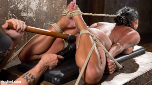 bdsm Big Tits Bound, Tormented Body, and Pussy and Face Fucked