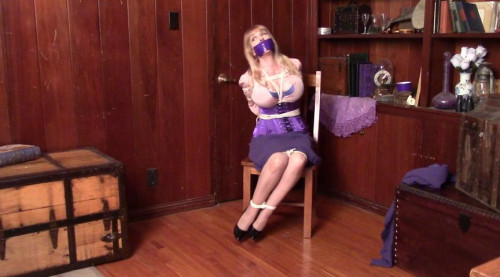 bdsm Bound and Gagged - The Case of the Captured Detective - Part 1 - Starring Miss Purple