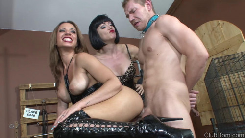 Femdom and Strapon Both Domina so beautiful that I do not know with whom to start licking
