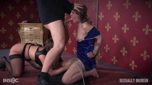 bdsm Sensation Slut Sierra Cirque bound on her knees and brutally face fucked