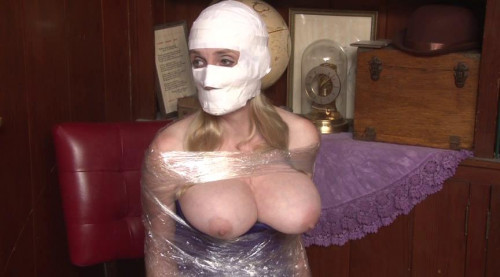bdsm Bound and Gagged - Mummification in Packing Tape - part 2