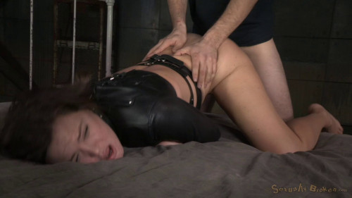 bdsm Krissy Lynns Booming Breasts And Butt Straightjacketed
