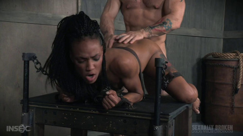 bdsm Nikki Darling gets plowed from both ends with huge cock. Helpless and cumming