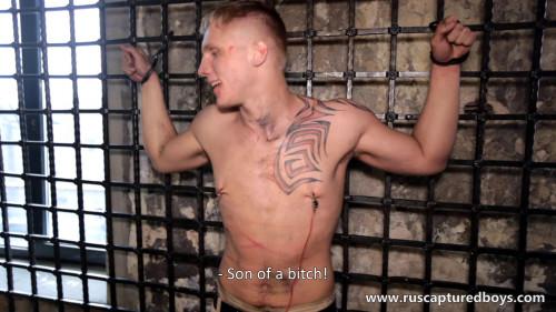 Gay BDSM Slava - The Prisoner of War - Part II