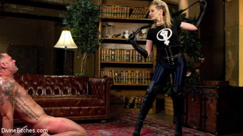 Femdom and Strapon Maitresse Madeline Dick Drains New Slave With Her Evil Femdom Pussy