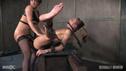 bdsm Kassie Kay Bound With Legs Spread