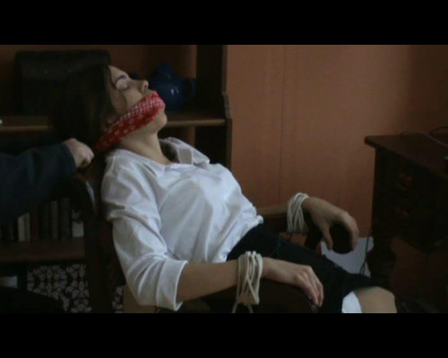 bdsm Secretary gets bound