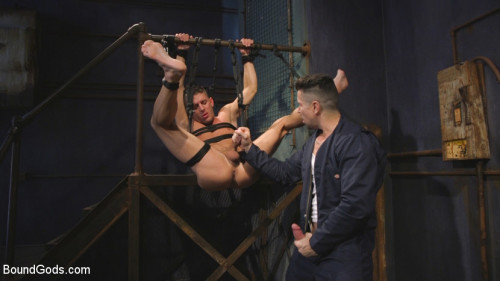 Gay BDSM Anal Whore taken for a Candlelit Night of Hot Wax and Hard Flogging
