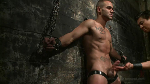 Gay BDSM Muscled stud Brock Avery Tormented and Fucked