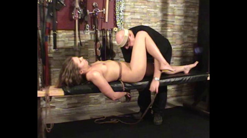 bdsm Amber Bench Tied Orgasm Part One