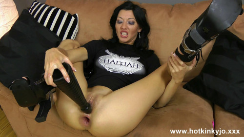Fisting and Dildo Anal fisting huge toy