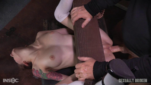 bdsm Anna De Ville is fed cock and pussy while bound and helpless Dominated to cum over and over (2016)