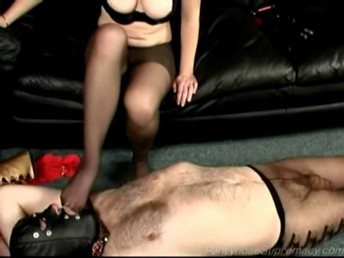Femdom and Strapon Stocking Splatter - LE