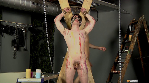 Gay BDSM Fed Huge Dick