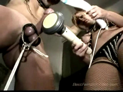 Femdom and Strapon Stretched To His Limit - LE