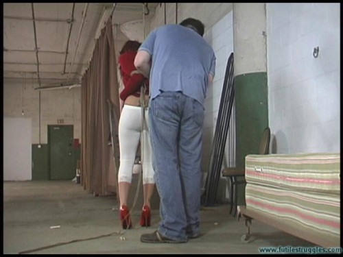 bdsm FS - Brandy Captured and Hogtied Tight - Part 1