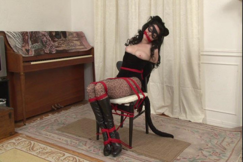 bdsm Bound and Gagged - Supervillainess Savage Kitty Mary Jane Green