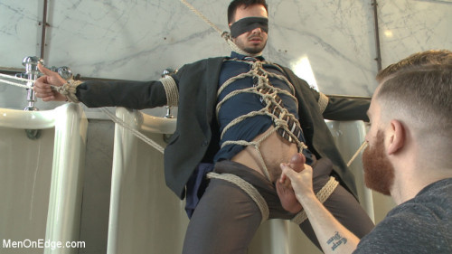 Gay BDSM Ripped Stud Blackmailed into an Edging