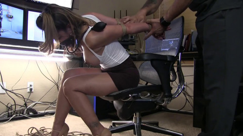 bdsm Super bondage and torture for a beautiful young model