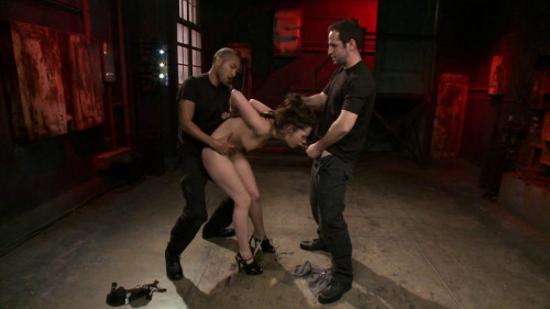 bdsm French Anal Whore Double Teamed