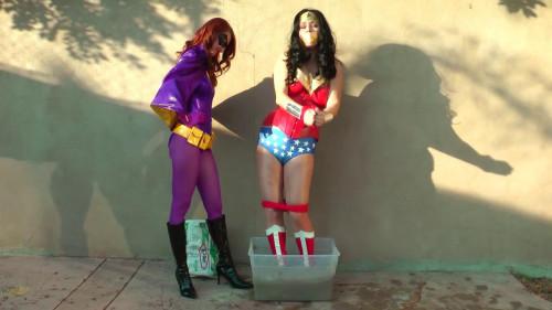 bdsm Batgirl vs Wonder Woman - Concrete Disposal