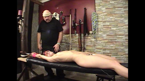 bdsm Elise Streached Electric Orgasm