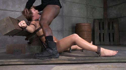 Maddy O'Reilly gets restrained and throatboarded