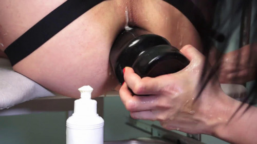 Femdom and Strapon Huge prolapse my guy from anal sex