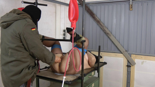 bdsm Enema in pussy and ass for horny slavegirl