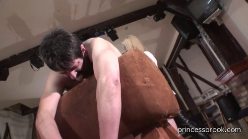 Femdom and Strapon PrincessBrook Extreme caning punishment