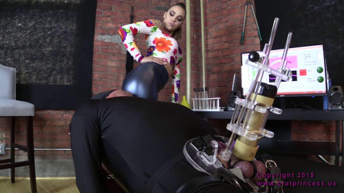 Femdom and Strapon Sasha Foxxx Cow For to juice Contents of Enema Bag (2015)