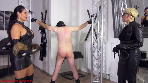 Femdom and Strapon Ezada Sinn and Mademoiselle de S. - Whipping The Wimpy Puppy