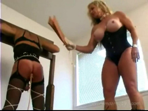 Femdom and Strapon Striking Blonde - LE