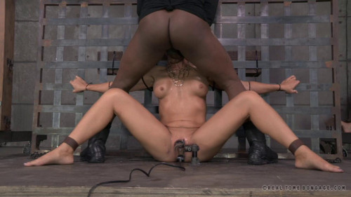 bdsm Stunning Simone Sonay ziptied down, brutal blowjobs on BBC