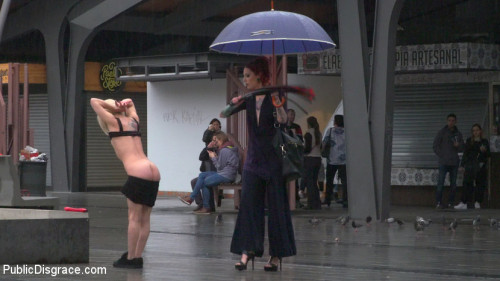 bdsm Eager Bitch Spanked And Flogged In The Rain - Part 1
