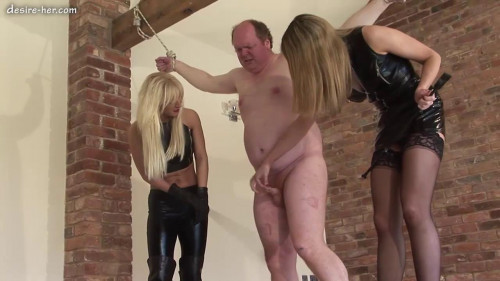 Femdom and Strapon Mistress Vixen and Mistress Rose Wood - Riding Cropped