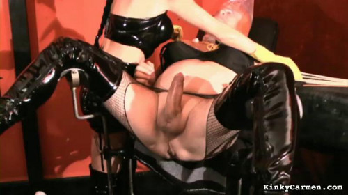 Femdom and Strapon Magic Very Good Collection Of KinkyCarmen. Part 2.