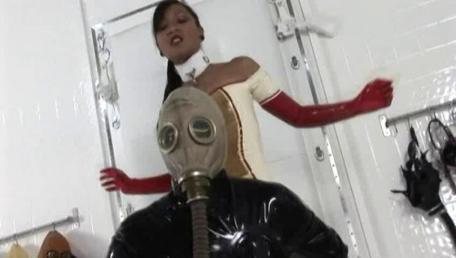 Femdom and Strapon Rubber Hypoxia
