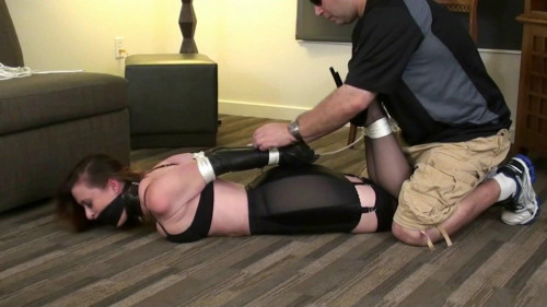 bdsm Serene Vintage Girdle, Stockings and High Heels