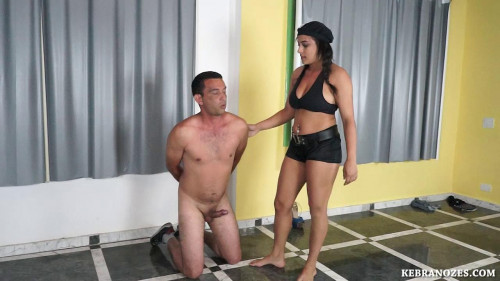 Femdom and Strapon Domina who likes to lick balls