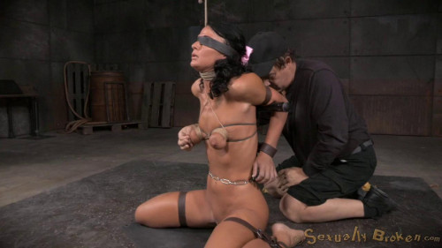 bdsm London River Gives Her First Blowjob In Bondage
