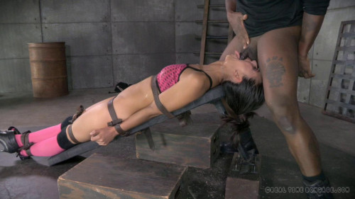 bdsm Vibrated to Screaming Orgasm and Brutally Deepthroated