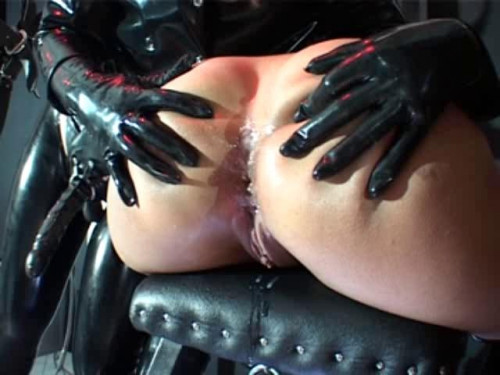 Femdom and Strapon Middle-aged woman practicing subordinates