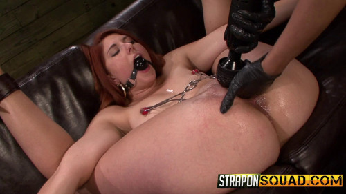 Femdom and Strapon Lesbian tied and fucked me with his fist and a vibrator