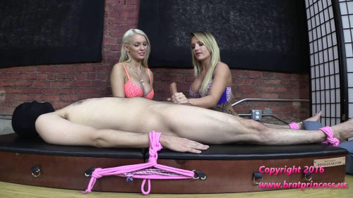 Femdom and Strapon Cali and Kenzie Edging Salon Teasers Demonstrate Ruined Orgasm Techniques (2016)