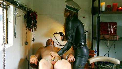 Femdom and Strapon prison scene 1